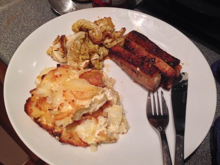 pork belly and potatoes