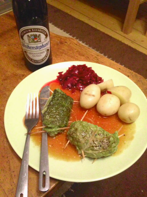 Kohlrouladen and Red Cabbage