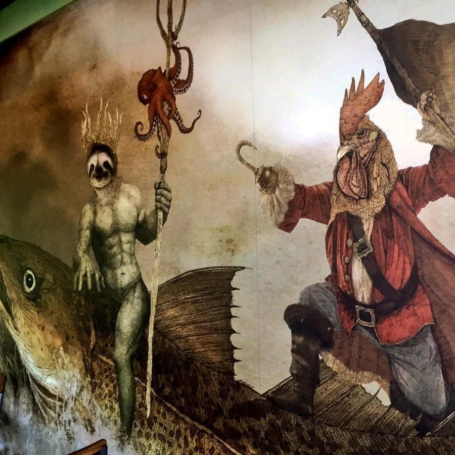WB mural